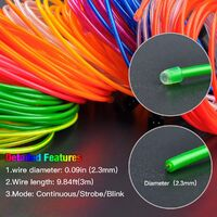 Christmas Decoration - Portable EL Wire, Neon Rope Lights with Battery, Glowing Strobing Flashing Electroluminescent Cable For Halloween Cosplay Christmas Dress Carnival Party Festival Decoration - Emerald Green (5M)