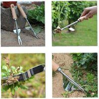 Garden Manual Weed Extractor Bending Resistant Dandelion Extractor Fast and Economical Aluminum Alloy Extractor Weed Tools for Garden Lawn