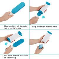 LangRay Cat & Dog Pet Hair Brush - Reusable Magic Cleaning Brush Bristle Remover - Magic Pet Hair Brush Dog & Cat Cleaning (Clothes / Sofa / Car / Bed), Blue