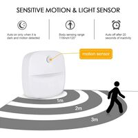 LangRay LED Night Light, Self-Adhesive Wall Night Light with Motion Sensor and Light Sensor, LED Kids Night Light for Nursery, Bedroom, Garage and Hallway (Warm White)