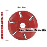 LangRay Wood Carving Disc, Six Teeth, Chain Tool, Cutter Tool, Cutter Tool, Aperture Angle Grinder Milling Tool (Red)