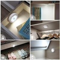 LangRay LED Closet / Cabinet Light, 3pcs Nightlight Cabinet Lights, LED Motion Sensor Light with Magnetic Base, for Kitchen Staircase Showcases Cabinet (Battery Powered)