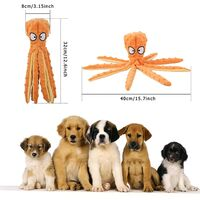 LangRay Squeaky Dog Toys, Plush Octopus Toy Durable Interactive Non-Filler Chews Suitable for Small and Medium Size Pets Training Toys (Purple)