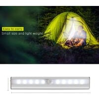 LangRay Cabinet Light with Sensor, Motion Detector Lamp, 10 LED Night Light with Magnetic Strip, USB Powered (Wireless), Automatic Cabinet Light