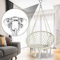 LangRay Hammock Hook Kit, Heavy Duty 500kg Capacity Hooks For Porch Swing, Chair, Yoga, Multiple Outdoor Gyms
