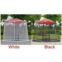 LangRay Patio Umbrella Mosquito Net, Mosquito Net for Gazebo - Outdoor Garden Umbrella Table Screen Parasol Mosquito Net Cover Mosquito Net Cover black