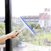 LangRay Shower Squeegee Glass Squeegee Water Household Cleaning Squeegee for Bathroom Window (3 * Pink)