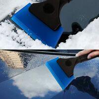 LangRay Bathroom Multifunction Silicone Window Squeegee, Shower Mirror Door, Window, Glass, Shower Door, Car Windshield, Window Scraper (5 Inch, Blue)
