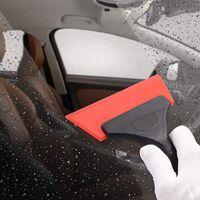 LangRay Bathroom Multifunction Silicone Window Squeegee, Shower Mirror Door, Window, Glass, Shower Door, Car Windshield, Window Scraper (5 Inch, Red)