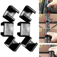 LangRay 10 Piece Strong Connector for Polyrattan Patio Furniture Set, Living Room Set Clips, Brackets, Outdoor Sofa Patio Furniture 4.25m