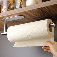 Kitchen Roll Holder Self Adhesive - Paper Towel Holder under Cabinet No Drilling Paper Roll Holder, Stainless Steel
