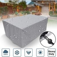Garden Furniture Cover, Rectangular/Square Polyester Waterproof Dustproof Anti-UV Heavy Duty Chair Table Cover for Outdoor Patio Sofa Protective(size:150 X 150 X 75cm)