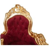 Louis XIV French style solid beech wood made armchair