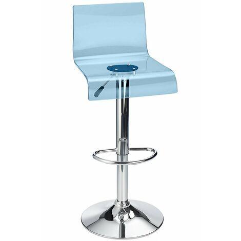 Snazzy Adjustable Acrylic Bar Stool Blue