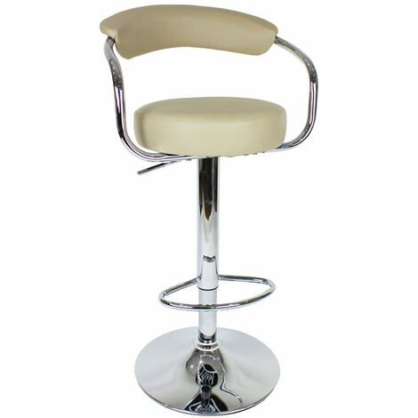 Lazio Adjustable Bar Stool Cream