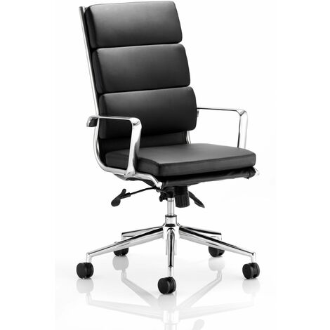 Sava Soft Bonded Leather High Office Chair Arms