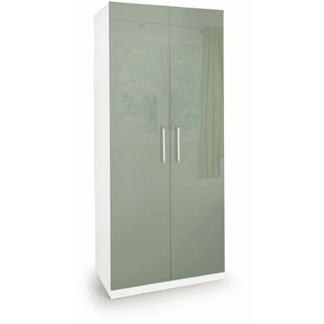 Corisal Gloss Bedroom Wardrobe White Gloss White High Gloss Mocha