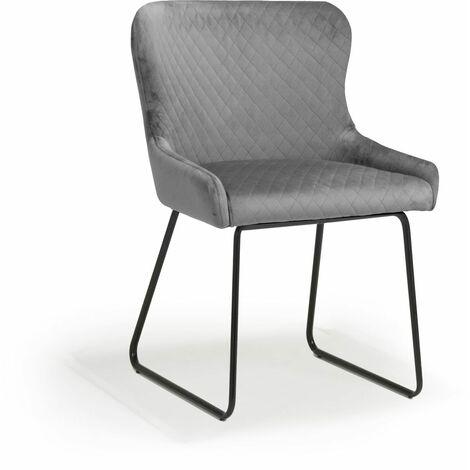 Galaway Velvet Grey Chair