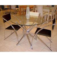 Fesco Glass Circular Round Table