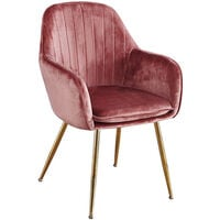 Lourd Chair Pink Gold Legs (Pack Of 2)