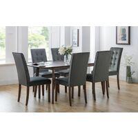 Lisbon Velvet Chair Grey Velvet