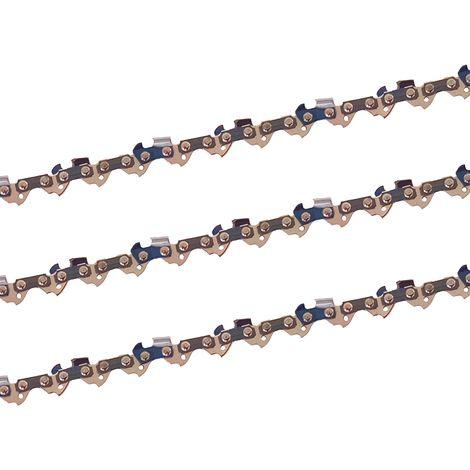 """3 x gardexx chaîne de scie pour Stihl ms 250, 40cm - 3/8"""" - 1,1mm - 55 tg"""