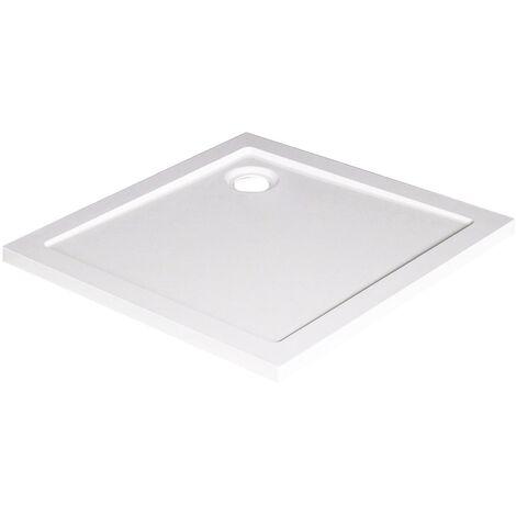 Receveur BULL - Antidérapant - 80x80cm - SMC - Blanc - Extra-plat