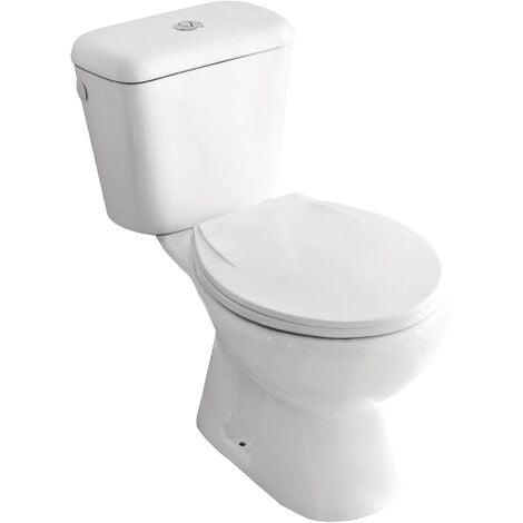 Pack WC ECO avec bride SV - H71,4xl36x65,8cm - H.cuv. 38,8cm - Céramique blanche