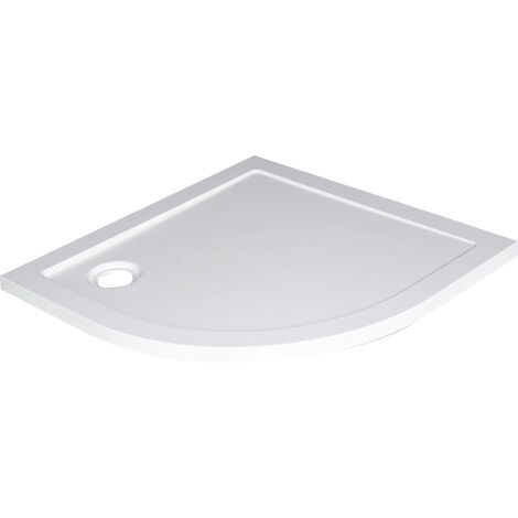 Receveur BULL - Antidérapant - 1/4 de cercle 80cm - SMC - Blanc - Extra-plat
