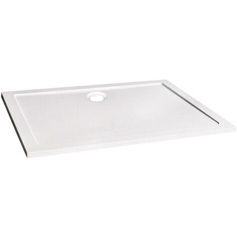 Receveur BULL - Antidérapant - 90x120cm - SMC - Blanc - Extra-plat