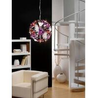 Suspension Otto 41 Ampoule G4 Sphere, chrome poli/verre dépoli/Multi-Colour verre