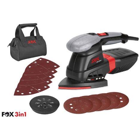 SKIL 7220 AC Ponceuse Multi (Fox 3 en 1), 250W, 125mm