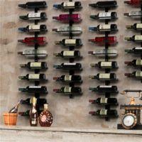 Yaheetech Portabottiglie Vino da Parete 126 cm Scaffale Metallo Vino Porta 10 Bottiglie Mobile Portabottiglie Nero