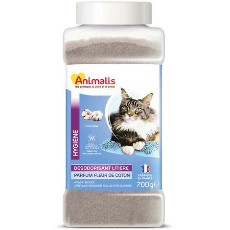 Animalis - Désodorisant pour Litière Parfum Fleur de Coton pour Chat - 700g