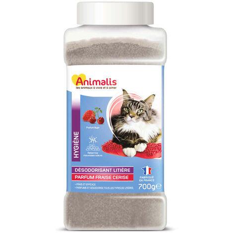 Animalis - Désodorisant pour Litière Parfum Fraise et Cerise pour Chat - 700g
