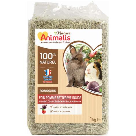 Animalis Nature - Foin Pomme Betterave Rouge pour Rongeurs - 1Kg