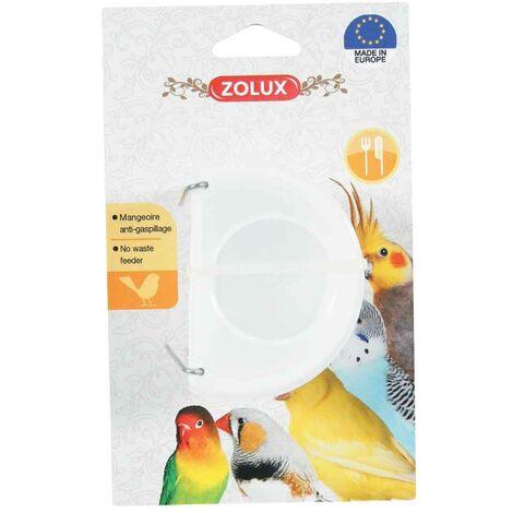 Zolux - Mangeoire Antigaspillage pour Oiseaux - Blanc