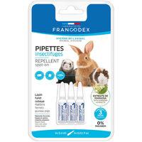 Francodex - Pipettes Insectifuges pour Lapin Furet et Cobaye - 3x0,4ml