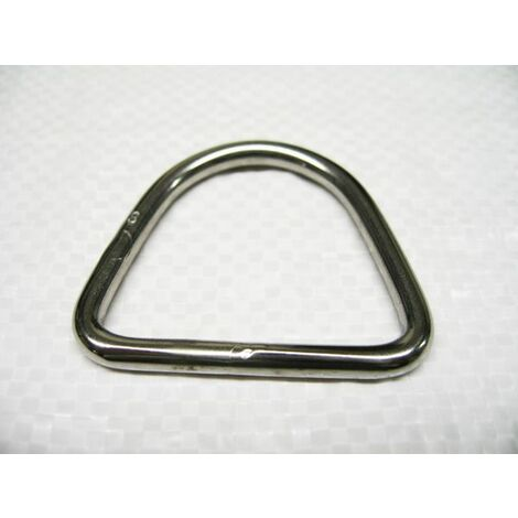Stainless Steel D Ring 6MM x 40MM (Rigging Hardware Webbing Buckles)
