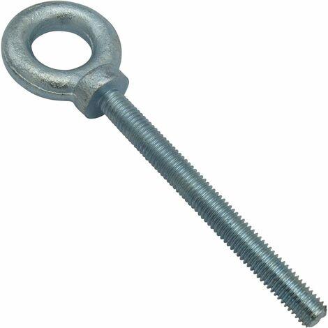 M10 Lifting Eye Bolt - 30MM Long Shank Dynamo Zinc Plated Eyebolt BS4278 0.25 Ton 10MM