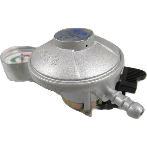 Butane Gas Regulator with Gauge 21MM - Clip on Calor 30mbar