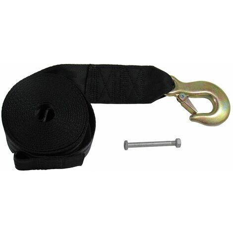 6 Metre Hand Winch Strap - 50MM 2500LBS Hook Eye Belt Webbing