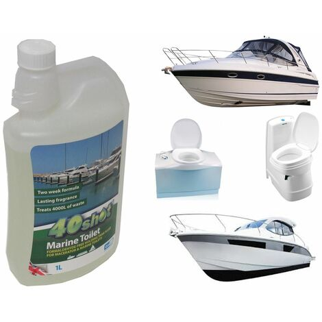 40 Shot Marine Toilet 1 litre - Boat Yacht Barges Macerator Neutral Softener
