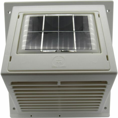 Day and Night Solar Wall Mounted Extractor Fan - Motorhome Vent Ventilator