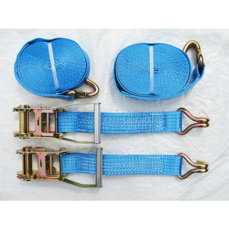 WHEEL STRAPS RATCHET LASHING YELLOW PASSIVATED ZINC PLATED 50mm OVAL LINK