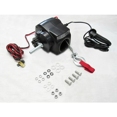 12V 2000LB Electric Boat Trailer Winch - Marine Dinghy Pull Recover