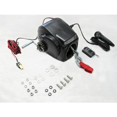 12V 3500LB Electric Boat Trailer Winch - Marine Dinghy Pull Recover
