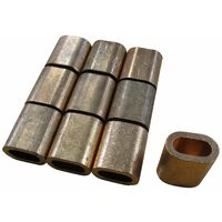2MM, Oval Section, Copper Ferrules / Sleeves For Stainless Wire Rope, QTY - 10