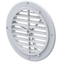 165MM X 125MM White Circular Air Vent Cover - Round UV PP Ventilation Motorhome