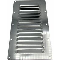 Stainless Steel Louvred Air Vent (225MM x 127MM Rectangular Grille Metal Duct)
